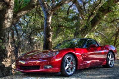 What Goes With A Blonde . . . A Red Corvette Of Course!