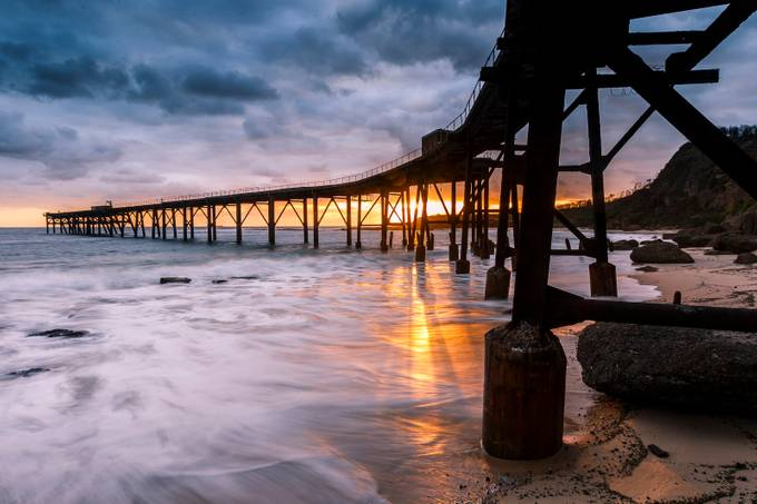 Catherine Hill Bay sunrise by chad_clark - The View Under The Pier Photo Contest