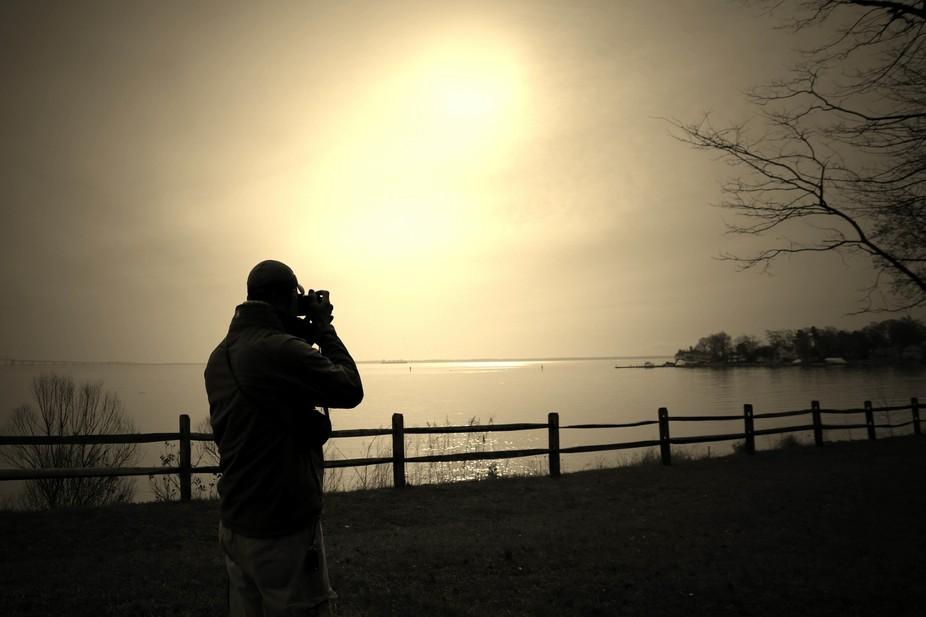 Sunrise on the Chesapeake Bay with cinematographer extraordinaire, Kwesi Renauld.