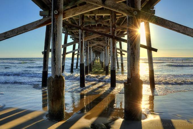 Newport Beach Pier by Eddie_Yerkish - Sun Flares Photo Contest
