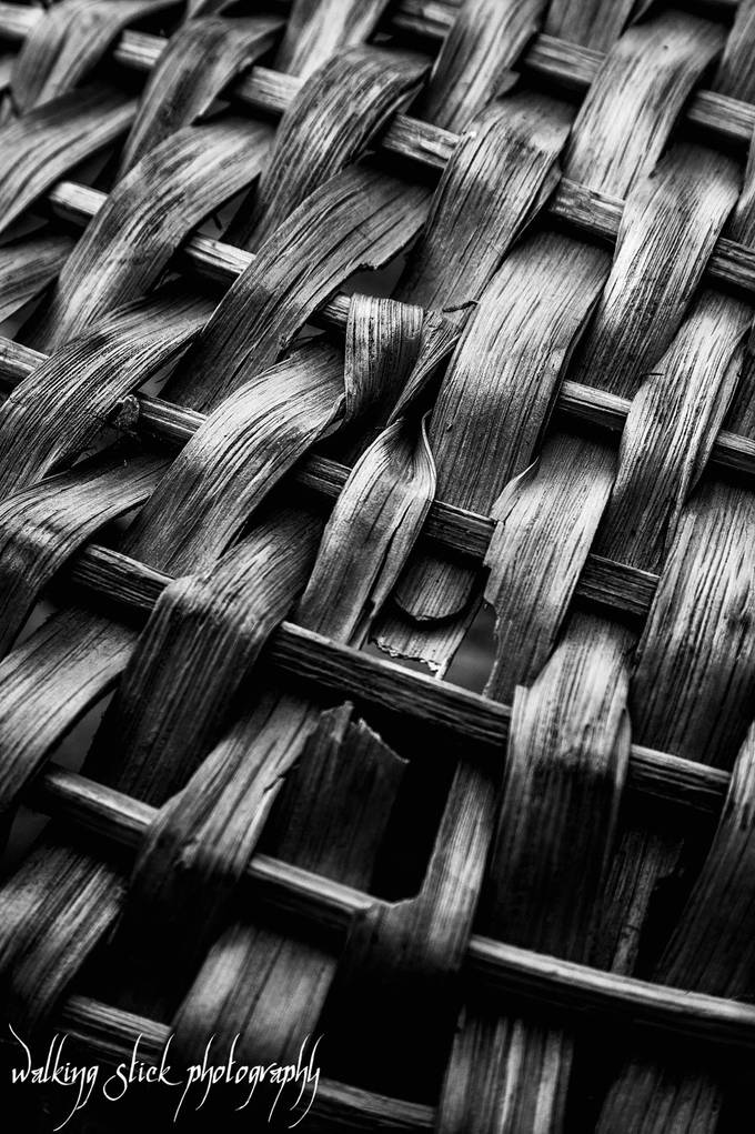 A Contrasting  Weave by robhansen - Textures In Black And White Photo Contest