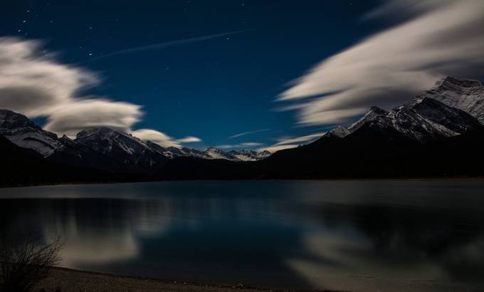 Spray Lakes Moonlight by Edinseye - Cloud Painting Photo Contest