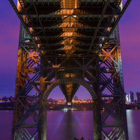 A shot of the George Washington Bridge from underneath