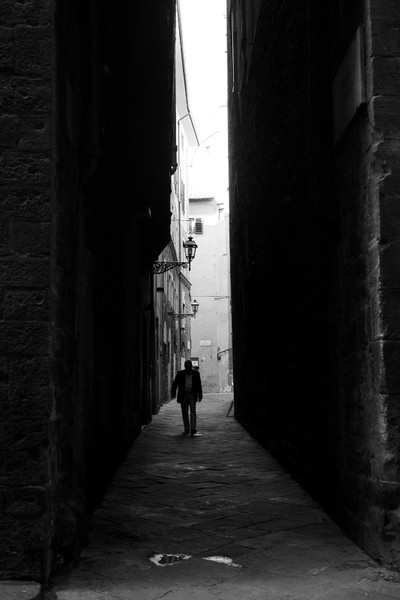 The man in the alley