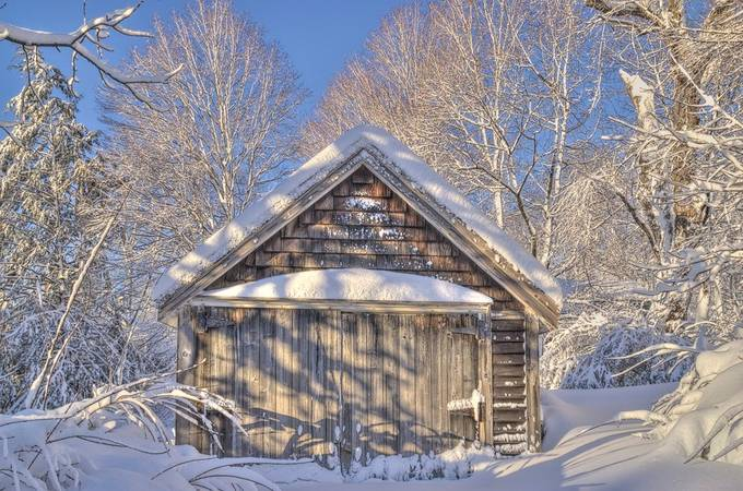 wainwright street snow by Stoneystone68 - Isolated Cabins Photo Contest