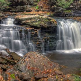 Cayuga Falls at Ricketts Glen State Park in Pennsylvania.