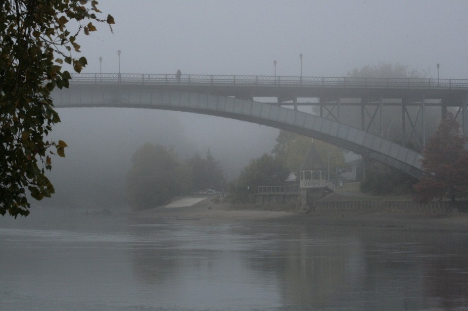 """A foggy morning down by the Waikato River - after the sombre """"A.N.Z.A.C."""" War m..."""