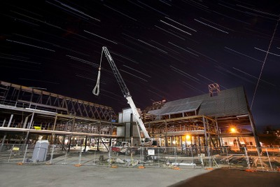 Night Construction under the Stars