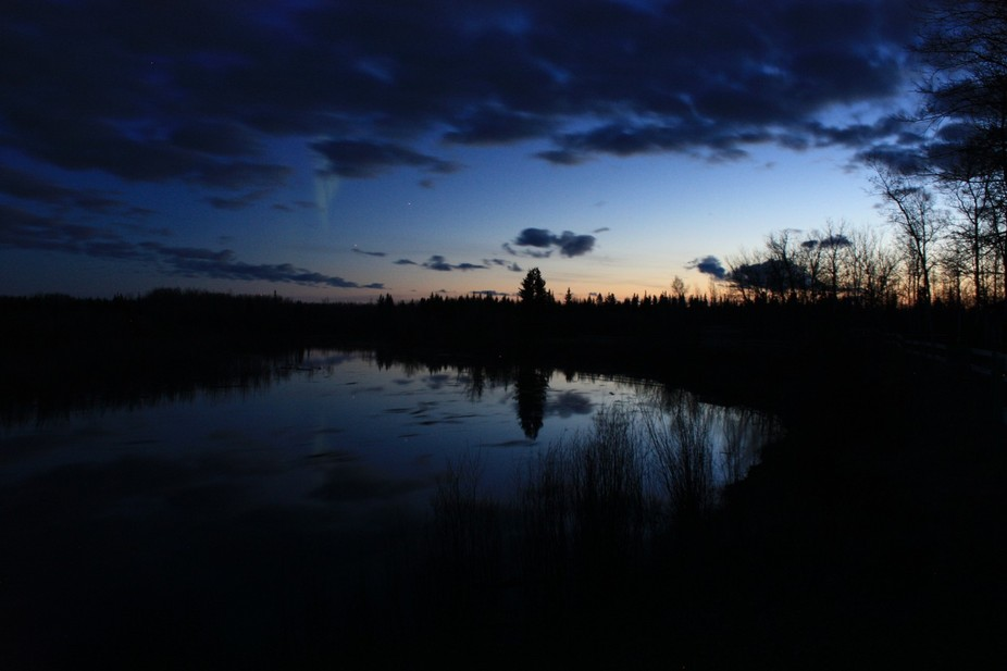 Up in the Northwest Territories, early summer morning!