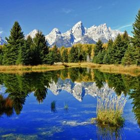 Summer reflection of the Grand Tetons
