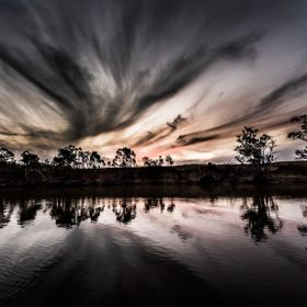 I shot this one was during my 2nd trip to Echuca when we hired a houseboat for a week. It was my first evening on the houseboat at Murray River. ...