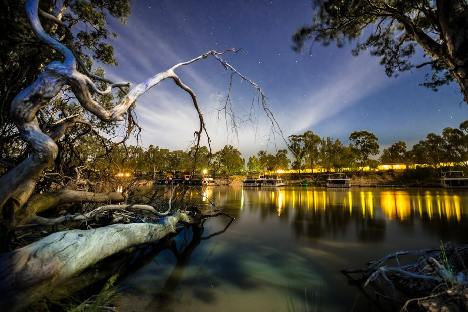 This shot is of a place I was staying in. I went on the other side of Murray e river and noticed ...