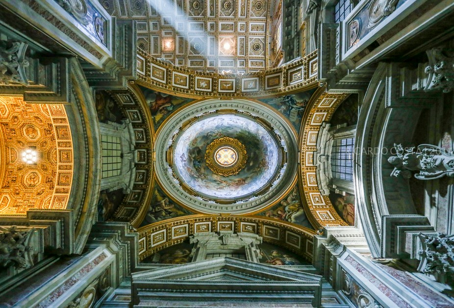 A different perspective, showing how beautiful is the St Peter\'s Basilica (Rome, Italy)