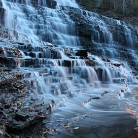 Albion Falls in Hamilton, Ontario Canada.  Hamilton is known as the city of waterfalls, and has more than 100 waterfalls.