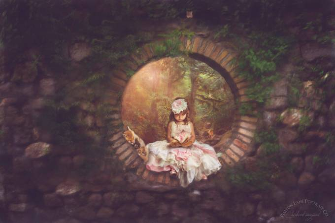 Through The Garden Window by DaltonLanePortraitCo - Fairytale Moments Photo Contest