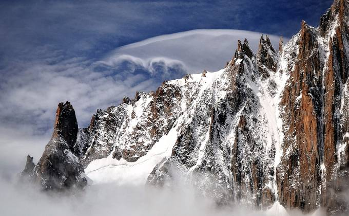 The mists of the Mont Blanc by Eryana - Rugged Landscapes Photo Contest