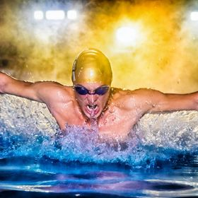 Swimmer doing the butterfly