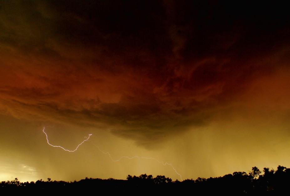 Sunset Lightning Strike