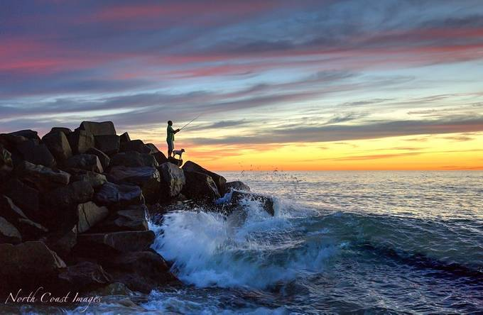 Fishing in November by northcoastimages - Standing At The Edge Photo Contest