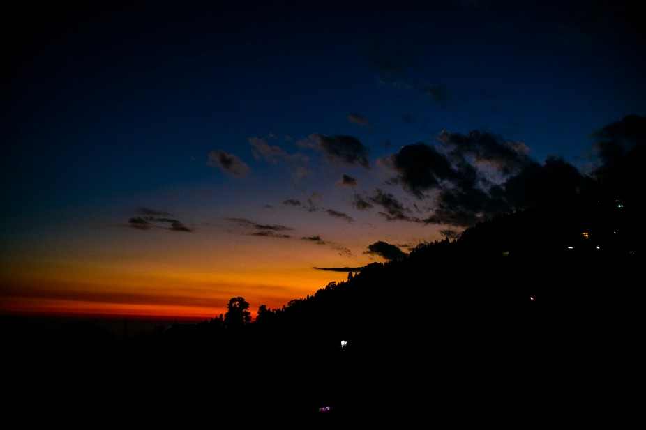 Beautiful evening in Lava near Darjeeling, West Bengal.