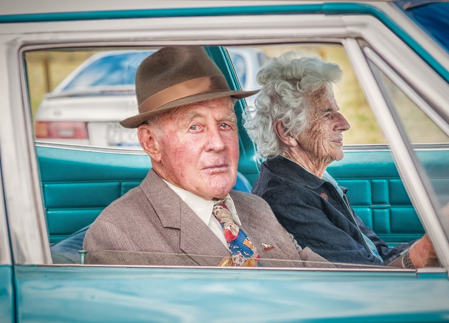 Sorry car enthusiasts - I was more interested in the couple than the classic car.
