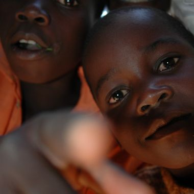 Some of the local children at the Agule Community Health Center (Uganda)