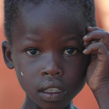 Young deaf girl at the Agule Community Health Center (Uganda)
