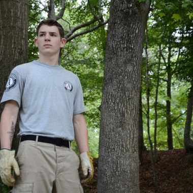 Member of FEMA Corps during an Independent Service Project in Mississippi