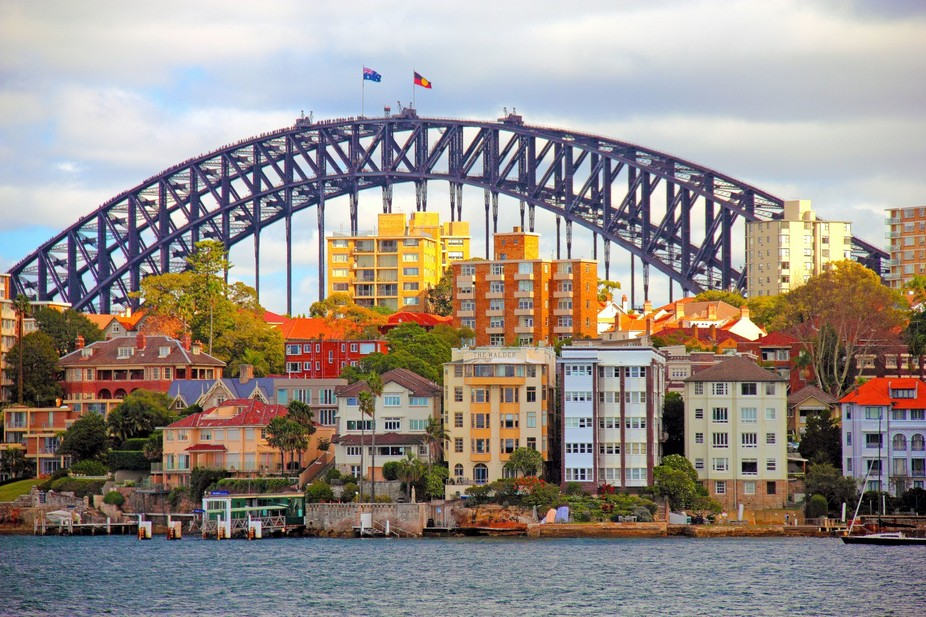 The Sydney Harbor Bridge: Sydney, Australia.