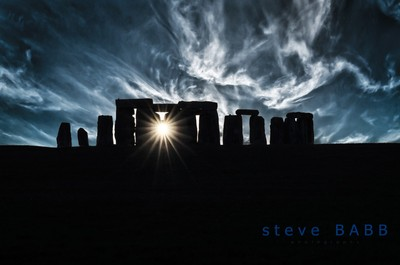Noctilucent clouds over Stonehenge