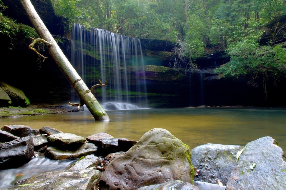 Beautiful waterfall in the Sipsey Wilderness area in North Alabama