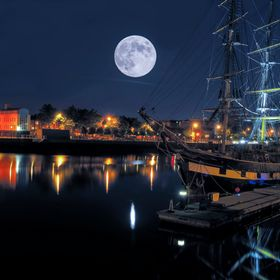Tall ship, Dublin, Ireland
