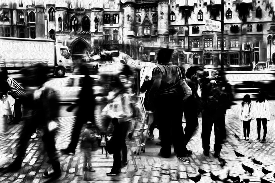 A manipulation combined of multiple images from my travels in Europe.
