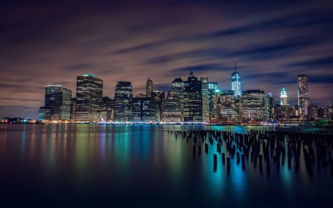 Wall Street | Manhattan, NY by didierciambra - City In The Night Photo Contest