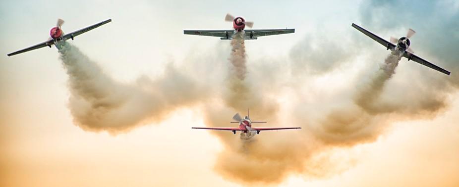 Aerostars display at East Kirkby, Lincolnshire