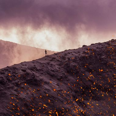 Running the rim of an active volcano 2.