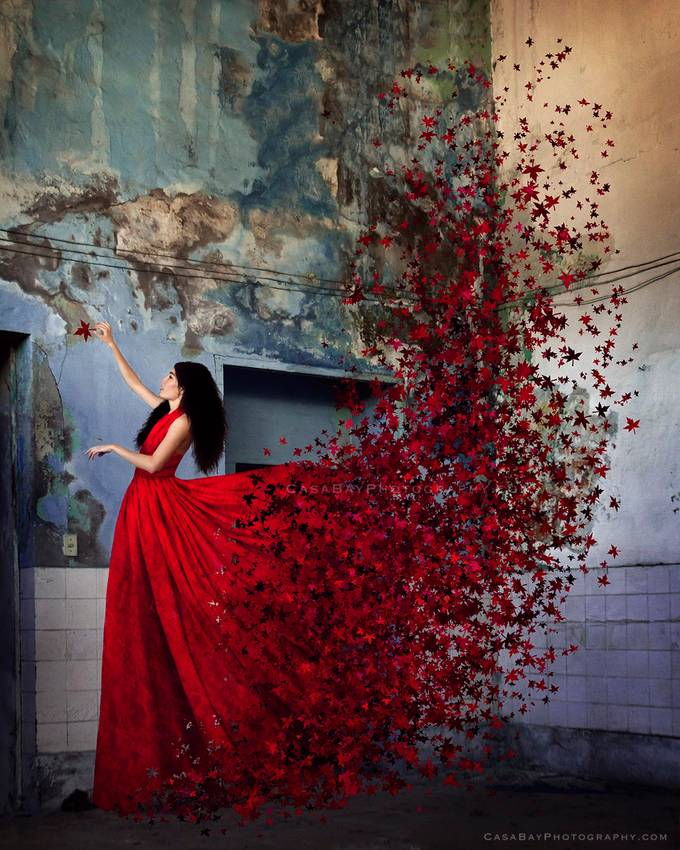 Red autumn by CasaBay_Photo - Photoshop Week Photo Contest