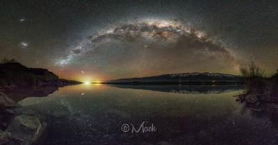 Lake Dunstan Milky Way.