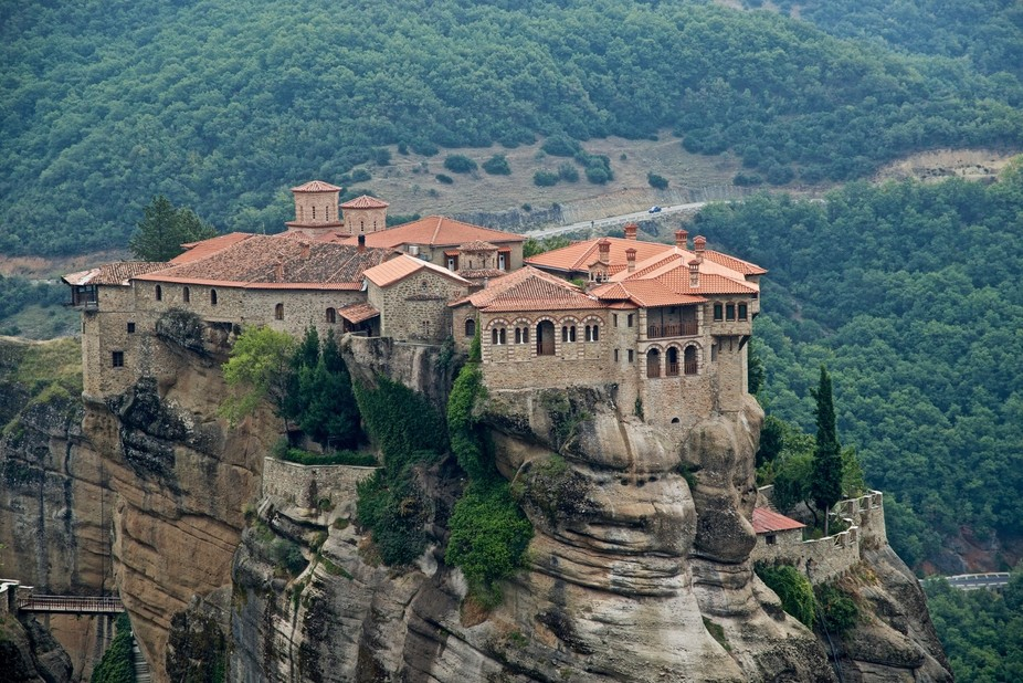 A monastery in Greece built high up in the Mountains.  The sight captivates you, stuns you, and t...
