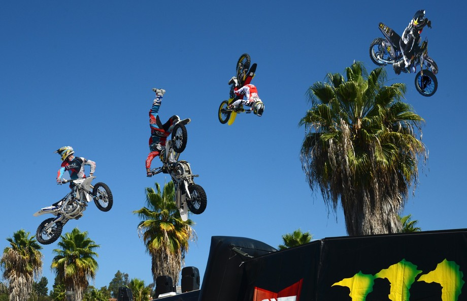 Motorcycle stunt riding in San Diego