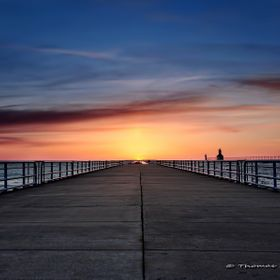 There is only one time of the year when the sun aligns with the end of the pier when setting and it just so happens to be during the winter. It m...