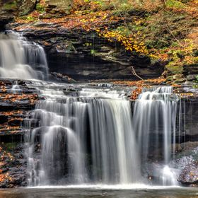 BF Ricketts Falls at Ricketts Glen in Pennsylvania.