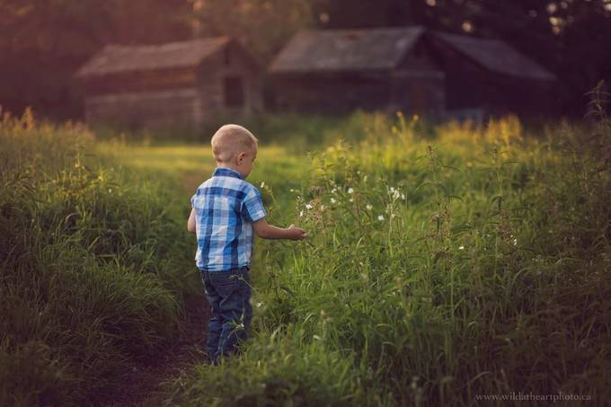 Flowers for Eliza by caitlynblake - Children In Nature Photo Contest