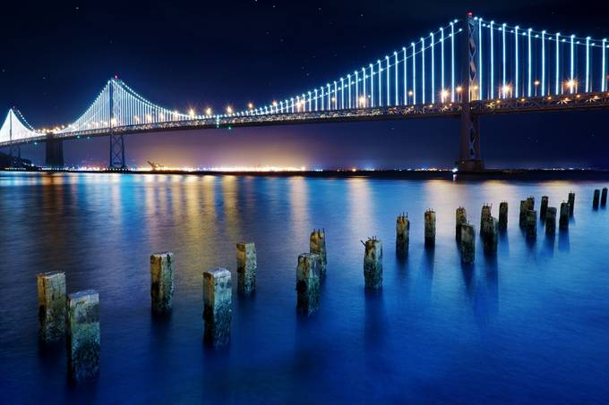 Past and Present by CraigBill - Bridges In The Night Photo Contest