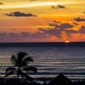 Sunrise in Cancun, Mexico, November 2014
