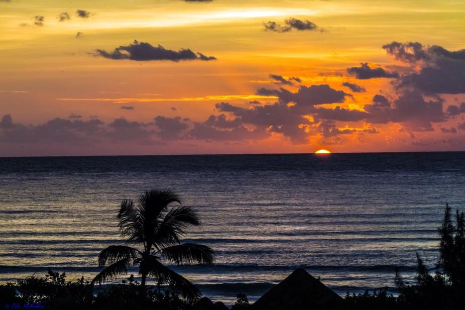 Sunrise in Cancun, Mexico, November 2014