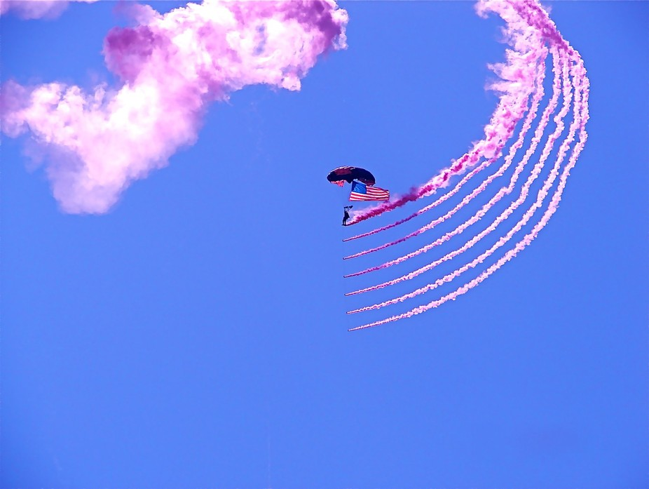 Air show over the beach