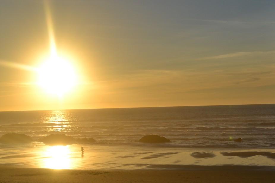 Sunset on the Oregon Coast in November