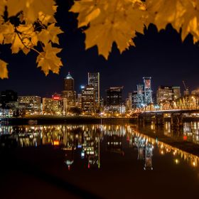 Portland, Or. City Lights on a late Fall night
