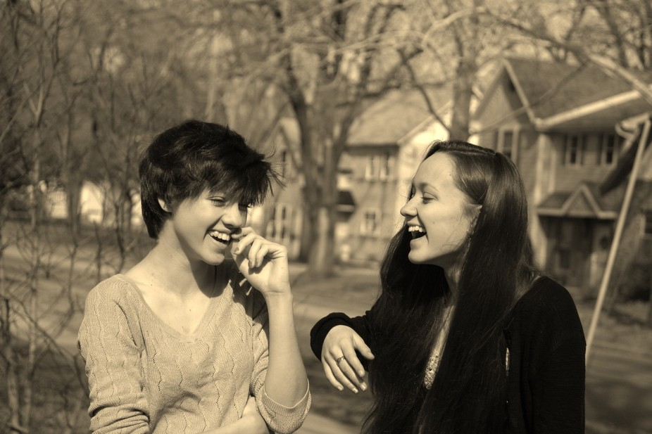 My nieces who are best friends and love spending time together, laughing together and of course t...